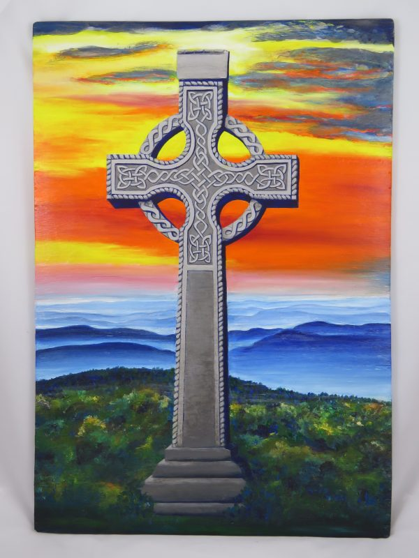 Reproduction on canvas-Celtic Cross